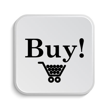 buy icon: Buy icon. Internet button on white  background. Stock Photo