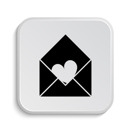 Send love icon. Internet button on white  background. photo