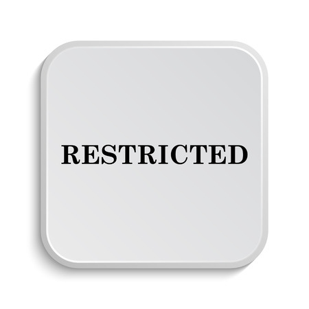 abstain: Restricted icon. Internet button on white  background. Stock Photo