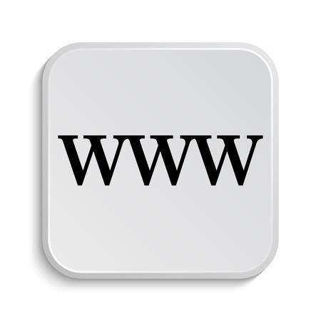 www icon: WWW icon. Internet button on white  background.