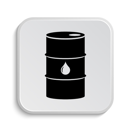 barrell: Oil barrel icon. Internet button on white  background.