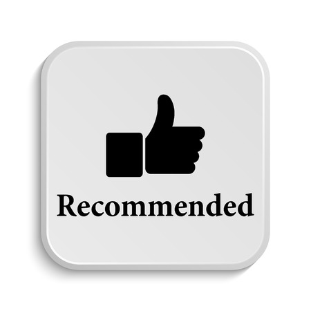 recommendations: Recommended icon. Internet button on white  background.