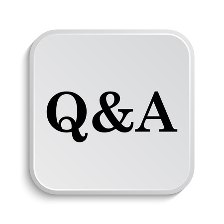 qa: Q&A icon. Internet button on white  background. Stock Photo