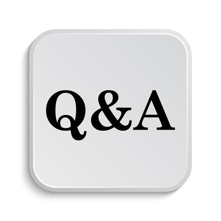 qa: Q&A icon. Internet button on white  background. Stock Photo