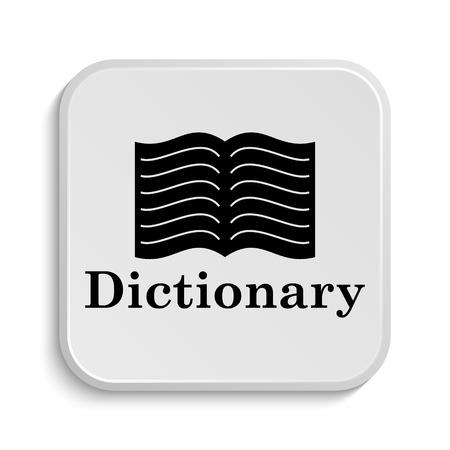 Dictionary icon. Internet button on white  background. Фото со стока