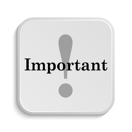 notable: Important icon. Internet button on white  background. Stock Photo