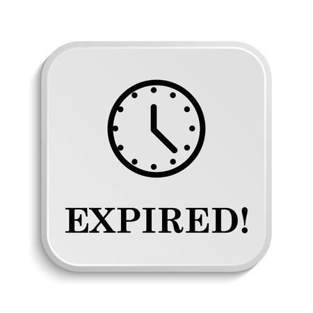 expired: Expired icon. Internet button on white  background.