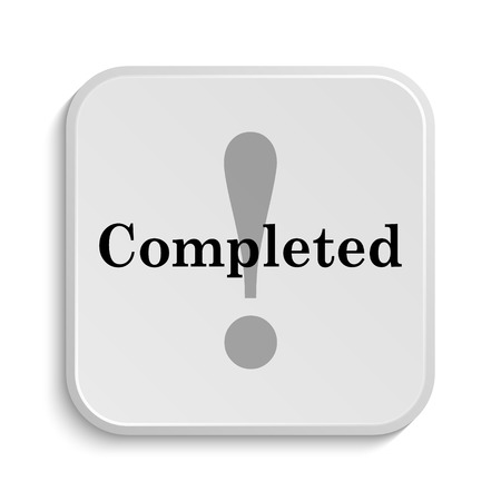 reviewed: Completed icon. Internet button on white  background. Stock Photo