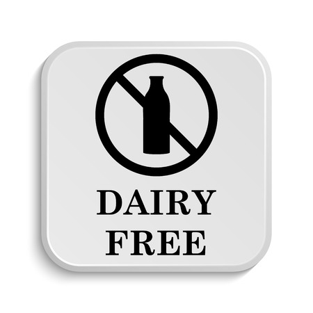 lactose intolerant: Dairy free icon. Internet button on white  background.