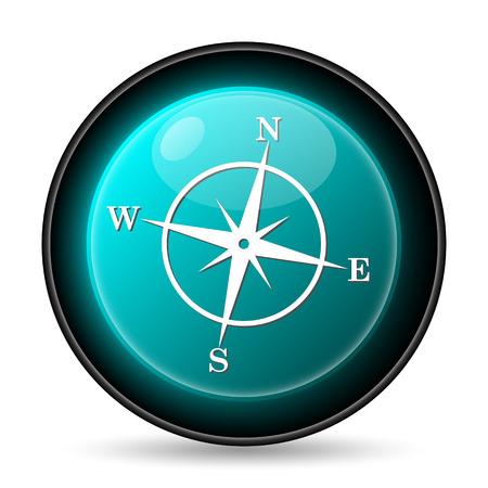 Compass icon. Internet button on white background. photo