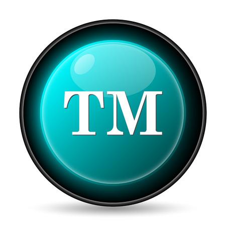 limitation: Trade mark icon. Internet button on white background.