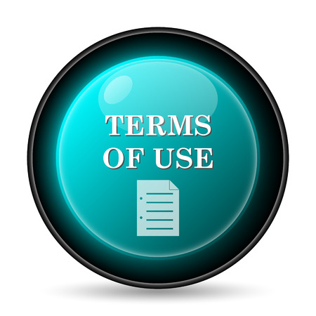 terms: Terms of use icon. Internet button on white background.