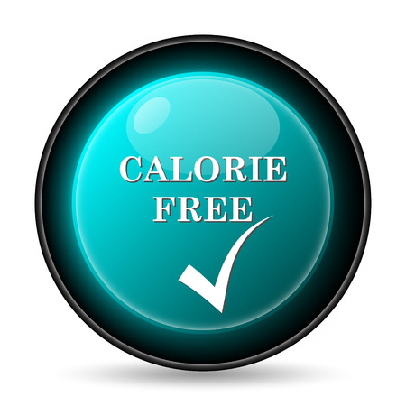 Calorie free icon. Internet button on white background.