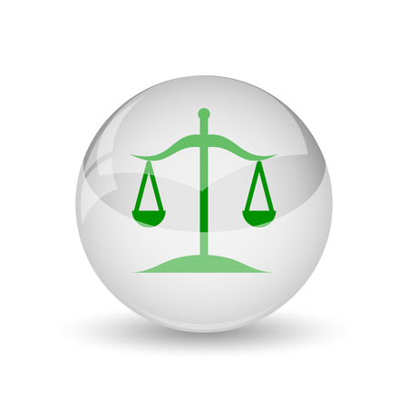 trial balance: Balance icon. Internet button on white background.