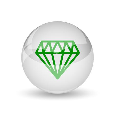 unbreakable: Diamond icon. Internet button on white background.