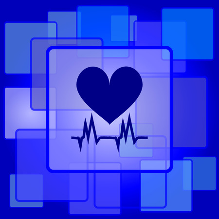 Heart  icon. Internet button on abstract background. Vector
