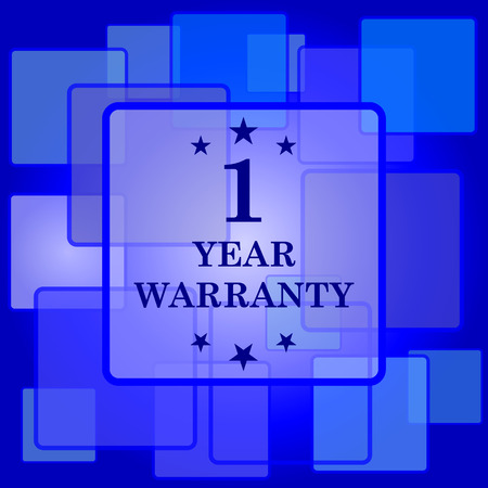 1 year warranty: 1 year warranty icon. Internet button on abstract background.