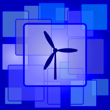 abstract mill: Windmill icon. Internet button on abstract background. Illustration