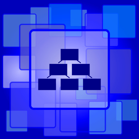organizational chart: Organizational chart icon. Internet button on abstract background.
