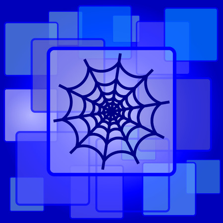 Spider web icon. Internet button on abstract background. Vector