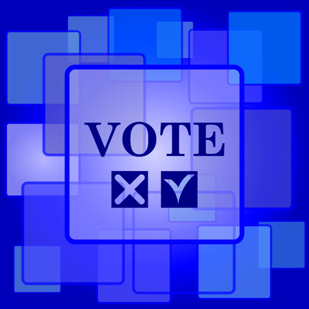 Vote icon. Internet button on abstract background. Vector