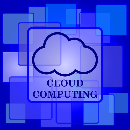 Cloud computing icon. Internet button on abstract background. Vector