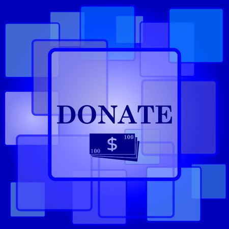 Donate icon. Internet button on abstract background. Illustration