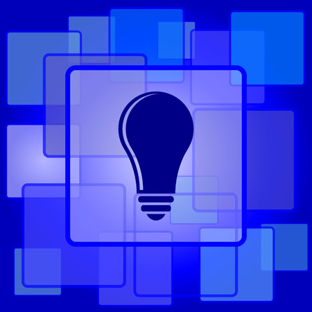 Light bulb - idea icon. Internet button on abstract background. Vector