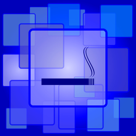 Cigarette icon. Internet button on abstract background. Vector