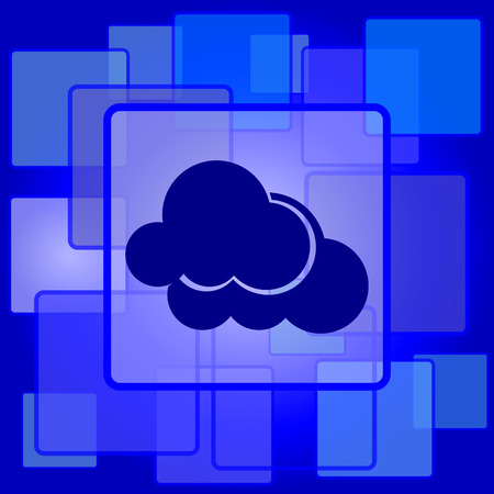 Clouds icon. Internet button on abstract background. Vector