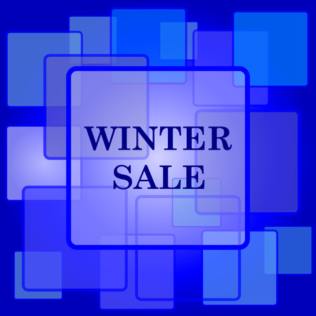 Winter sale icon. Internet button on abstract background. Vector