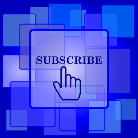 subscribing: Subscribe icon. Internet button on abstract background.
