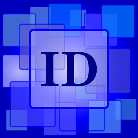 ID icon. Internet button on abstract background. Vector