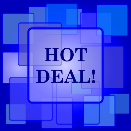 Hot deal icon. Internet button on abstract background. Vector