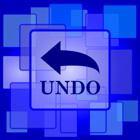 undo: Undo icon. Internet button on abstract background. Illustration