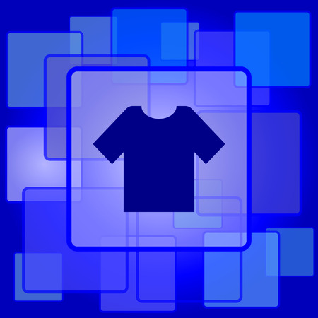T-short icon. Internet button on abstract background. Vector
