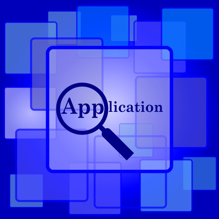 Application icon. Internet button on abstract background. Vector