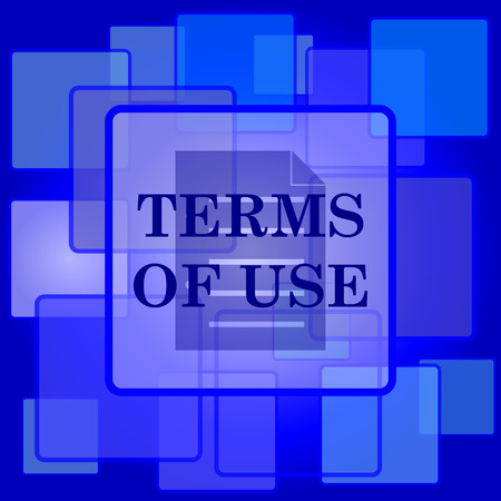 use regulations: Terms of use icon. Internet button on abstract background. Illustration