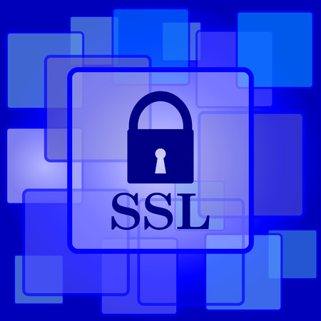 ssl: SSL icon. Internet button on abstract background.