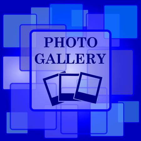 photo gallery: Photo gallery icon. Internet button on abstract background.