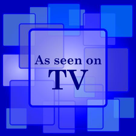 cliche: Como se ve en el icono de la televisi�n. Bot�n de internet sobre fondo abstracto.