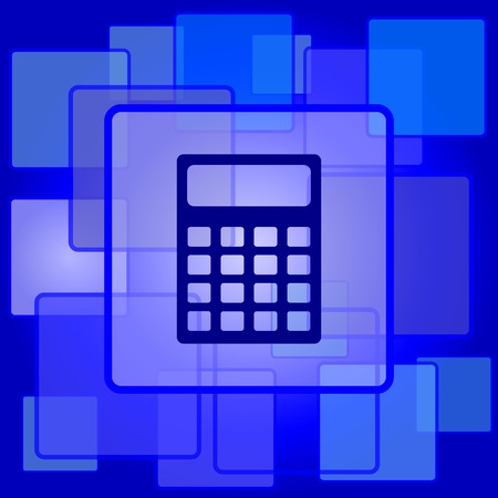 Calculator icon. Internet button on abstract background. Vector