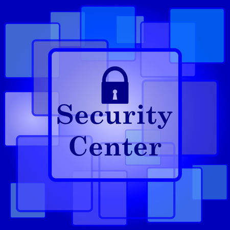 Security center icon. Internet button on abstract background. Vector