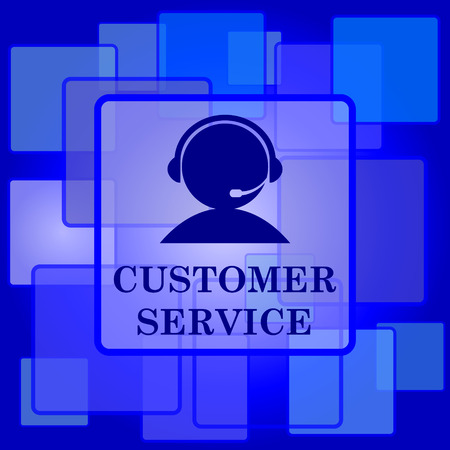 Customer service icon. Internet button on abstract background. Vector