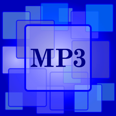 mp3: MP3 icon. Internet button on abstract background.