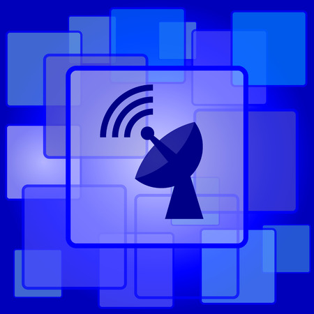 Wireless antenna icon. Internet button on abstract background. Vector