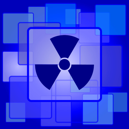 Radiation icon. Internet button on abstract background. Vector