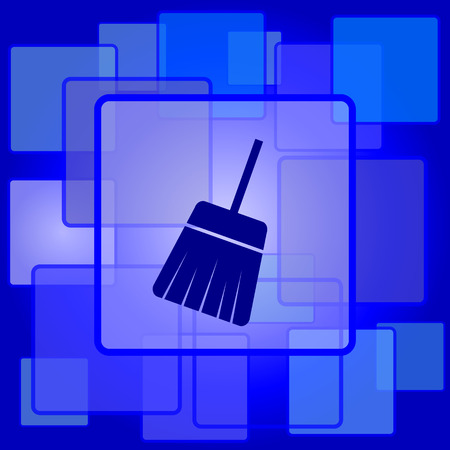 Sweep icon. Internet button on abstract background. Vector