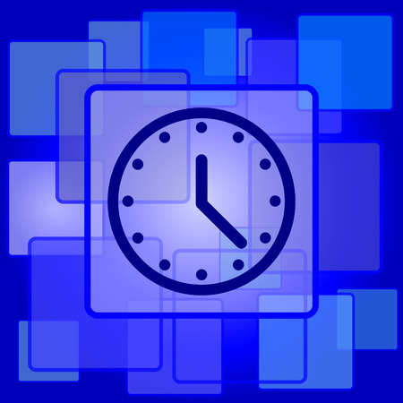 Clock icon. Internet button on abstract background. Vector