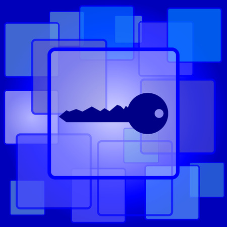 Key icon. Internet button on abstract background. Vector